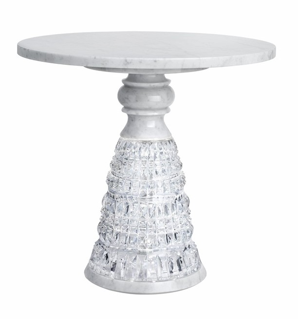 Beautiful New Antique Crystal and Carrara Marble Table cest la vie soophisticate 2016