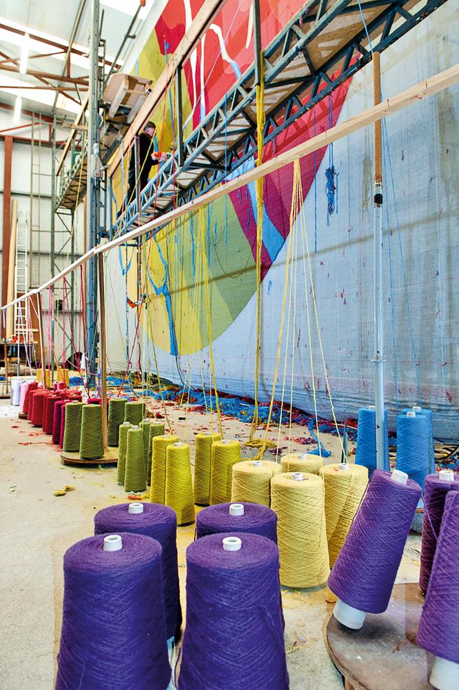 Detail shot of Connemara Carpet dyed wool process shot Connemara Life 2016