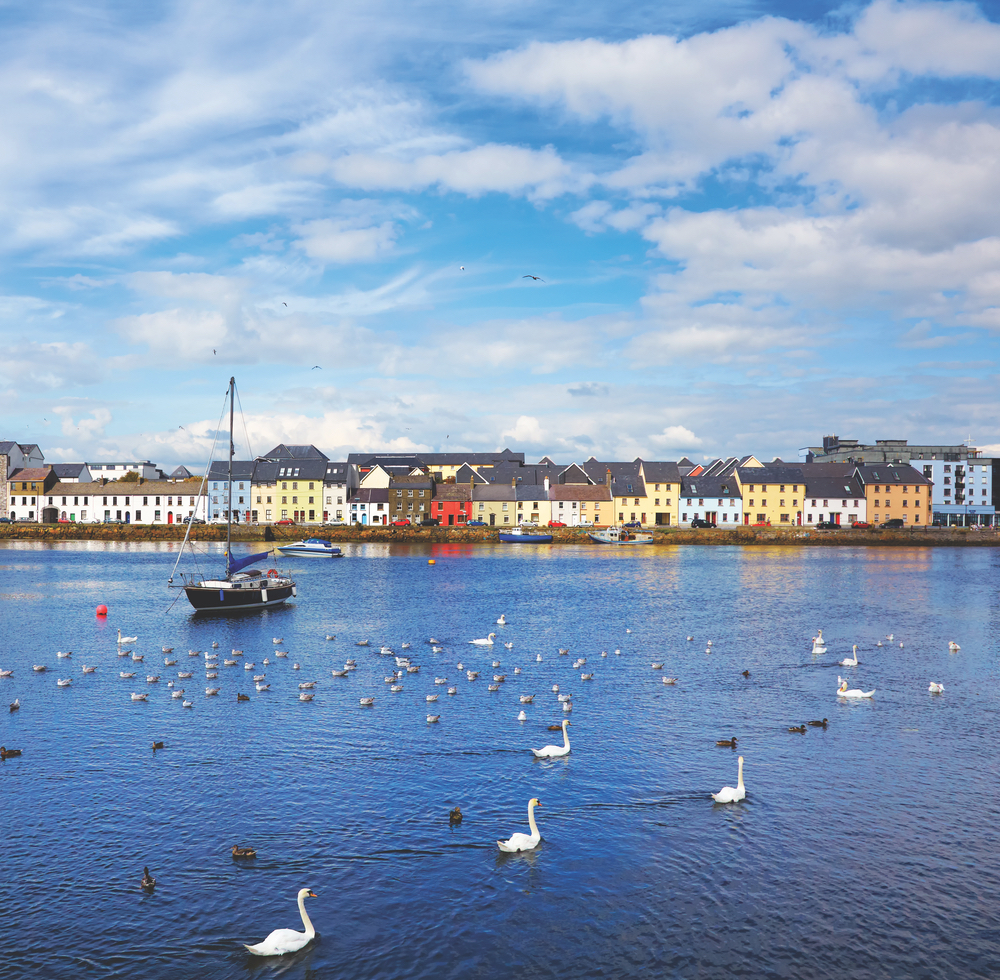 Rarely does a view beat that of the Claddagh in Galway City during summertime