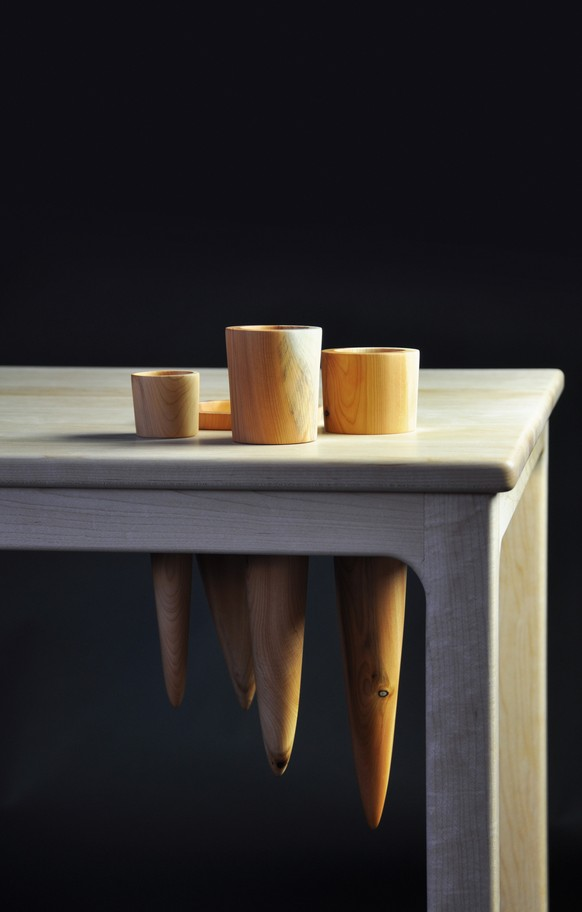 Landscape 1, Desk with Maple and Yew by Gabriel Hielscher, Galway Photo by Geraldine O'Brien