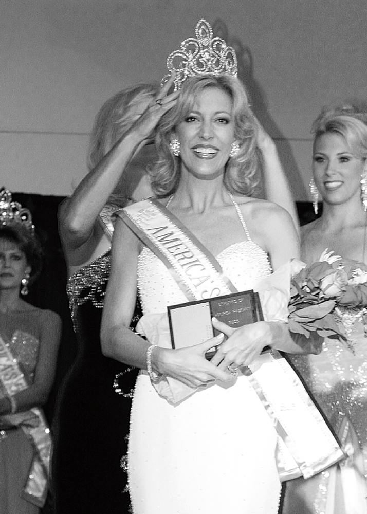 The crowning moment as Melissa Behnke wins the National Beauties of America title in 2007