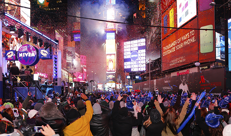 New York City Time Square New Year's Eve Celebration