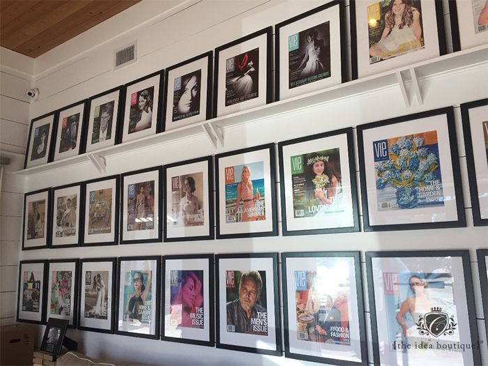 The Idea Boutique Headquarters VIE magazine frames