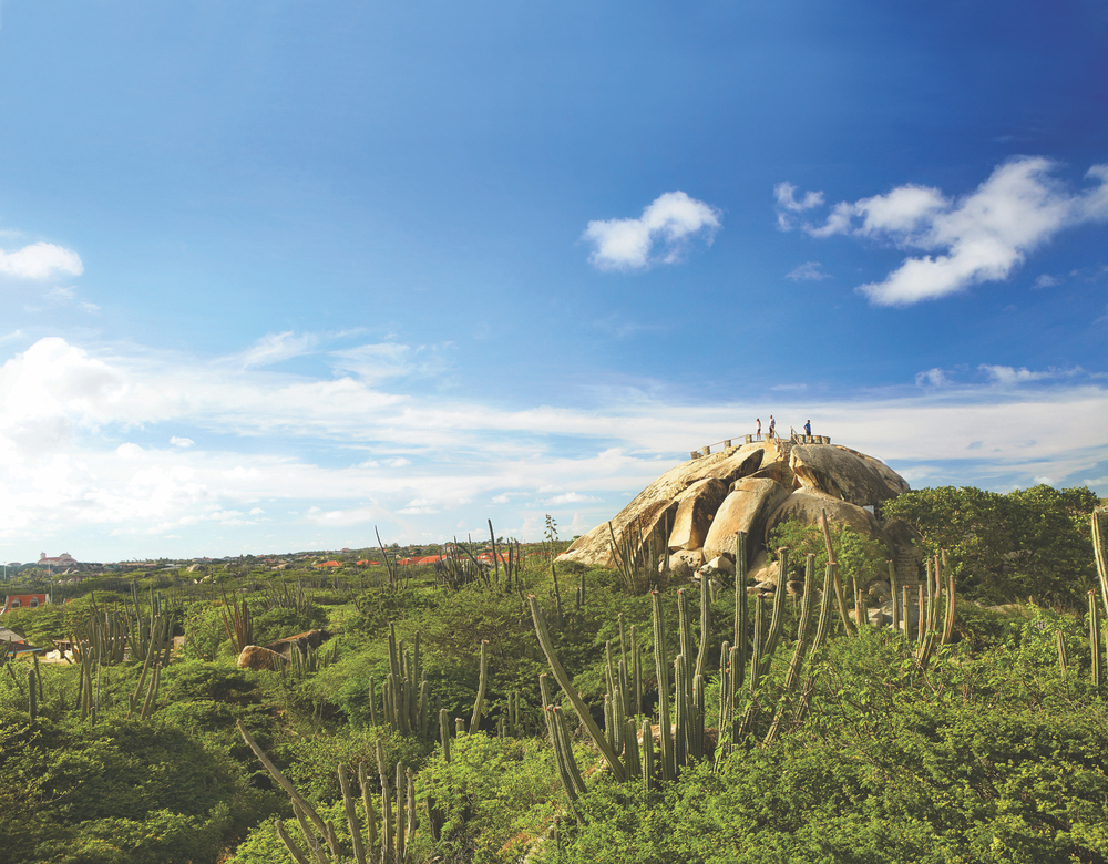The Casibari Rock Formations, located in the island's desert region, are a must-see. These unique formations of tonalite rock offer scenic hiking and, from the top, incredible panoramic views.