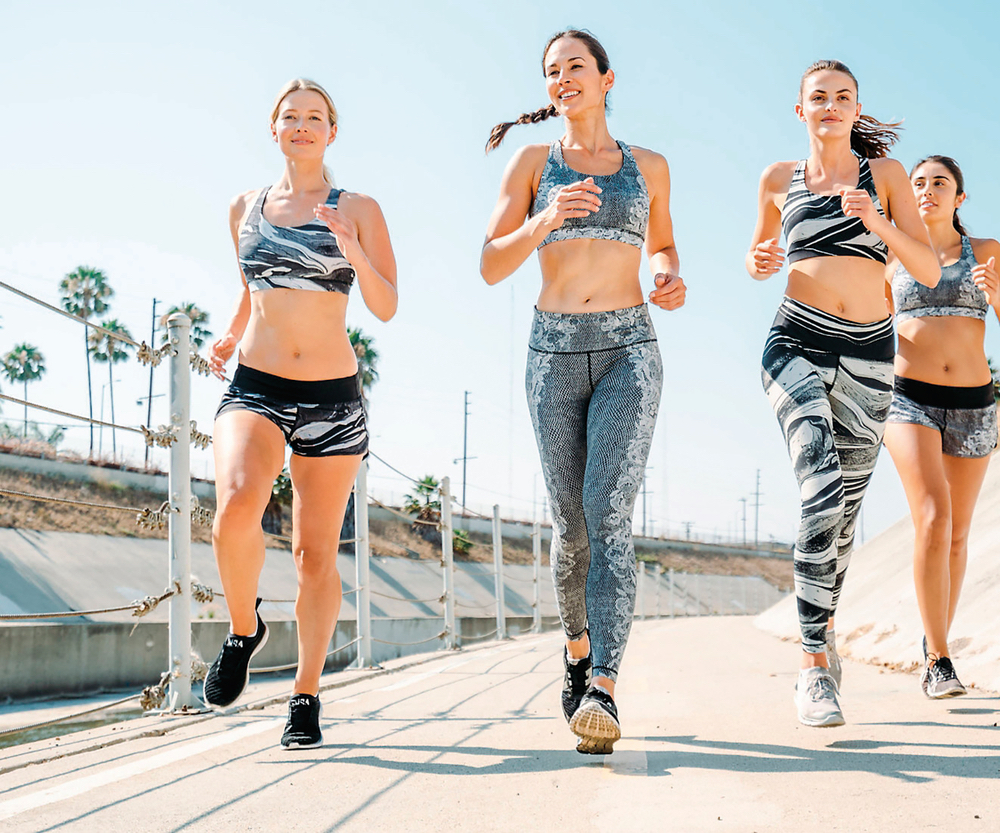 Lululemon's wide array of sports gear and loungewear includes yoga and running pants and shorts, sports bras, swimwear, cold weather gear, accessories, and more for women and men. Photo courtesy of Lululemon.