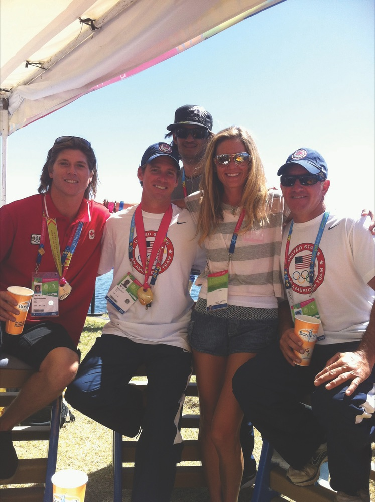 US men's gold medalists in slalom and wakeboard