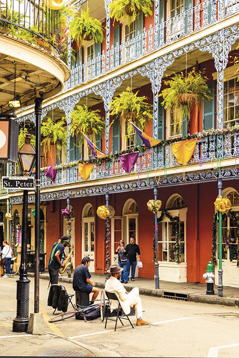 New Orleans' famous French Quarter
