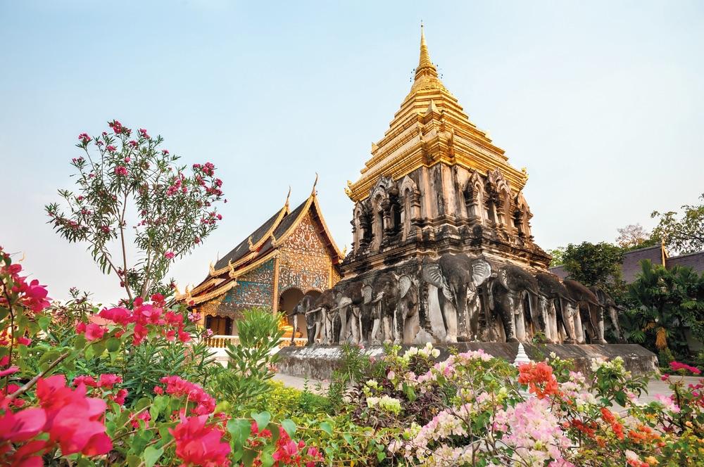 Vie Magazine, Chedi Chang Lom at Wat Chiang Man, Chiang Mai, Thailand