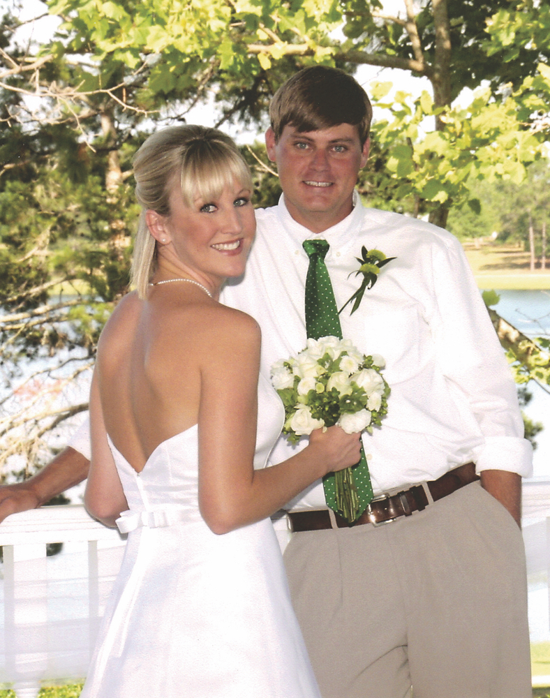 Leah Beard; Bayne Powell; wedding couple
