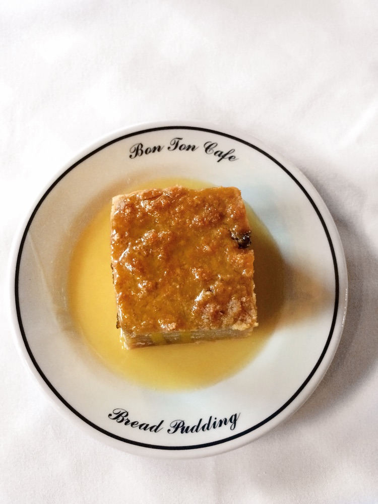 Bon Ton Cafe; New Orleans; Bread Pudding