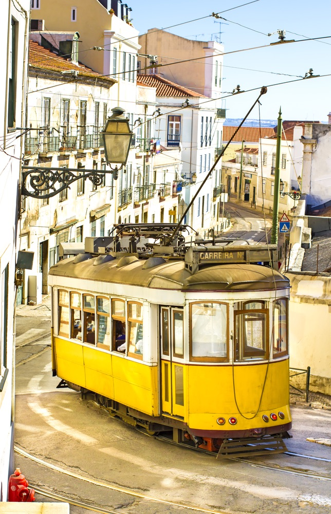 The yellow trams of Lisbon
