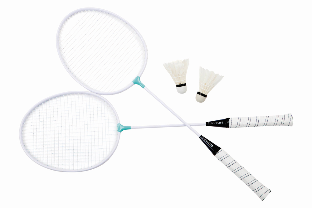 Badminton Set in Turquoise playing travel adventure cest la vie 2017
