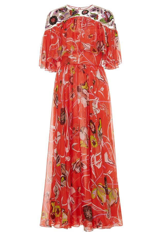 Emilio Pucci Embroidered Long Dress cest la vie adventurer issue 2017