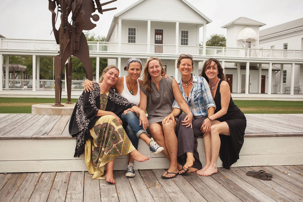 Shay Bell, Heather Haynes, Hillary Glenn, Jennifer Kuntz, and Anne Hunter in Seaside, Florida
