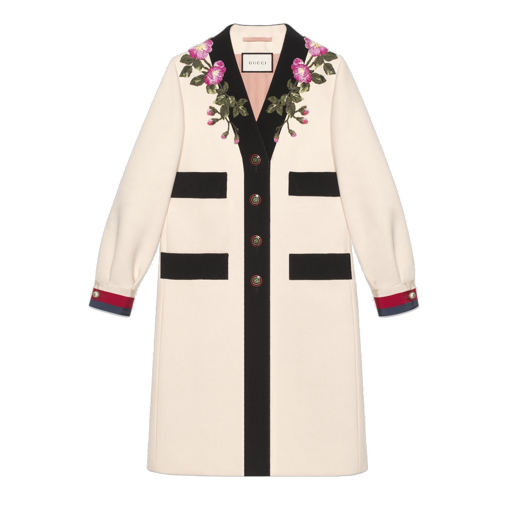 Gucci Embroidered Wool Coat VIE Cest La VIE Storyteller Issue September 2017