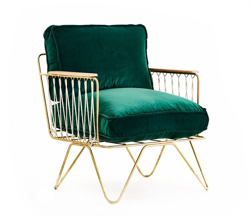 croisette armchair in forest green velvet bastille and sons elegant chair cest la vie