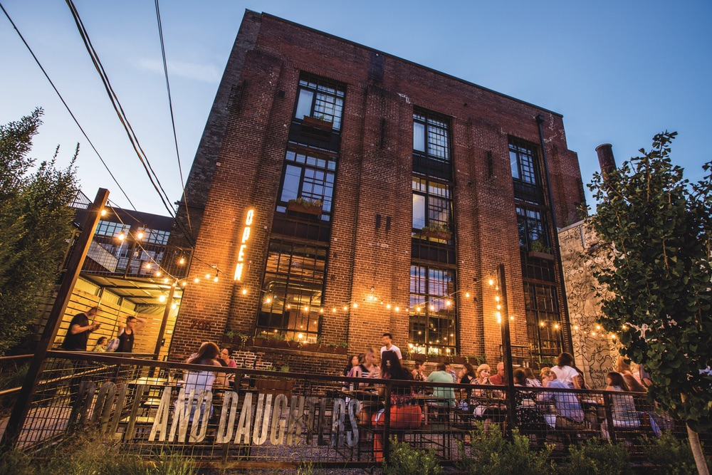 Rolf and Daughters' charming patio Nashville Tennessee VIE Magazine Top 10 2017