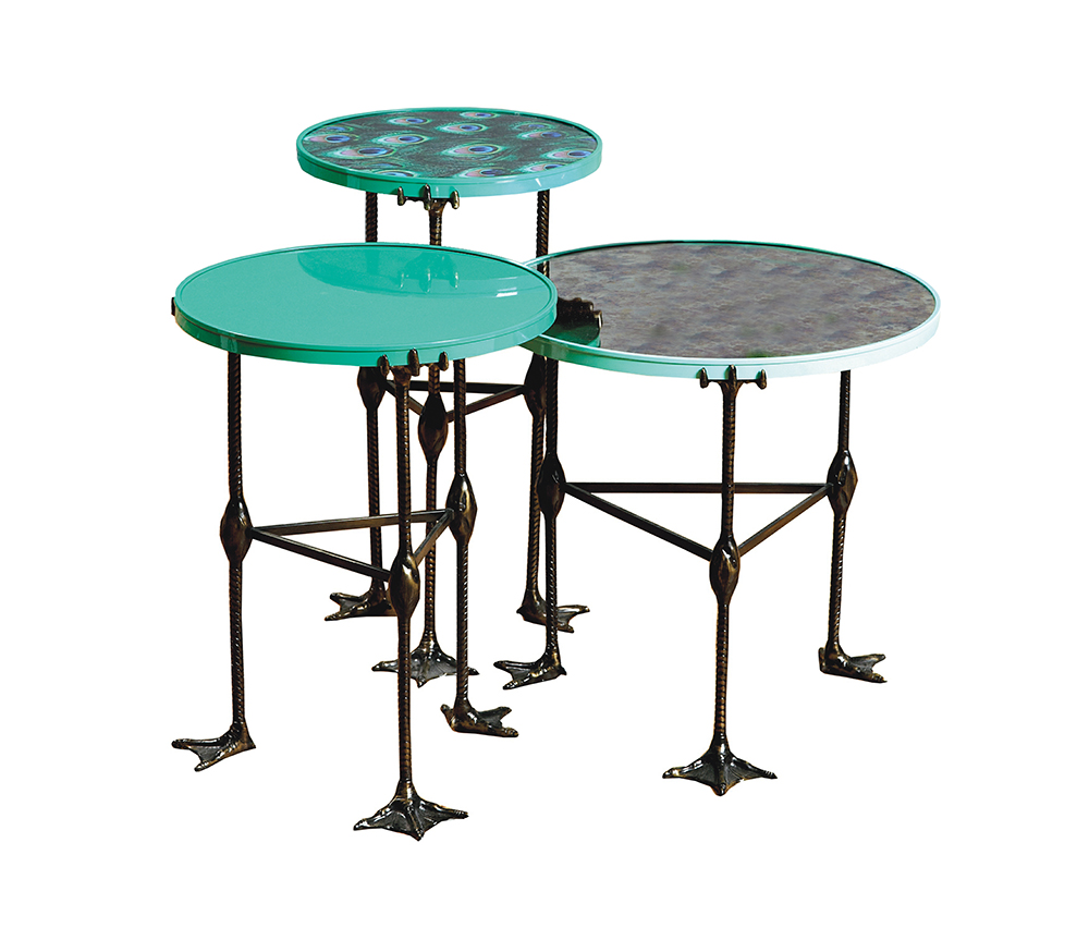 Duresta for Matthew Williamson Nesting Tables, cest la vie, curated collection, crowning jewels