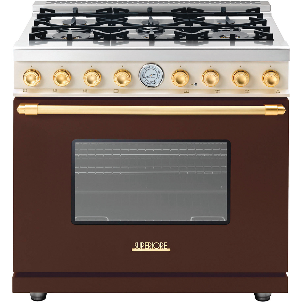 Deco freestanding full-gas range by Tecnogas Superiore, cest la vie, curated collection, crowning jewels