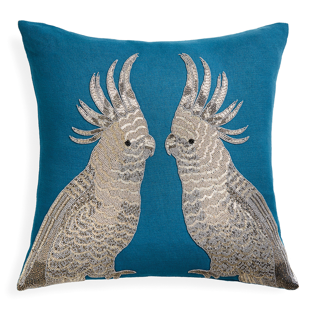 Zoology Parrots Throw Pillow, cest la vie, curated collection, crowning jewels