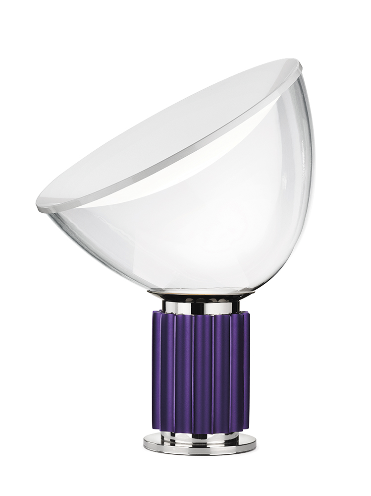 FLOS Taccia Small Lamp in Violet, cest la vie, curated collection, crowning jewels