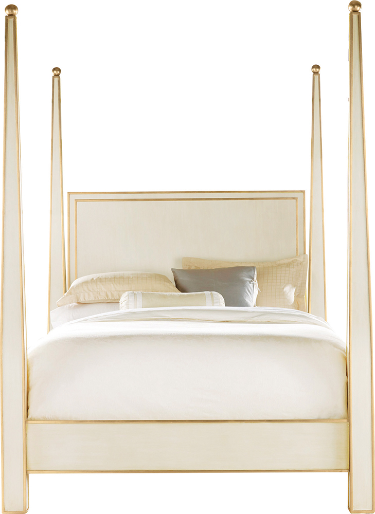Modern History Abstract Four-Poster Bed, cest la vie, curated collection, crowning jewels