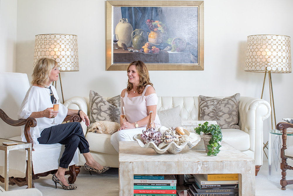 Design Associate Alden Lagasse, wife of Emeril Lagasse, and Principal Designer Susan Lovelace