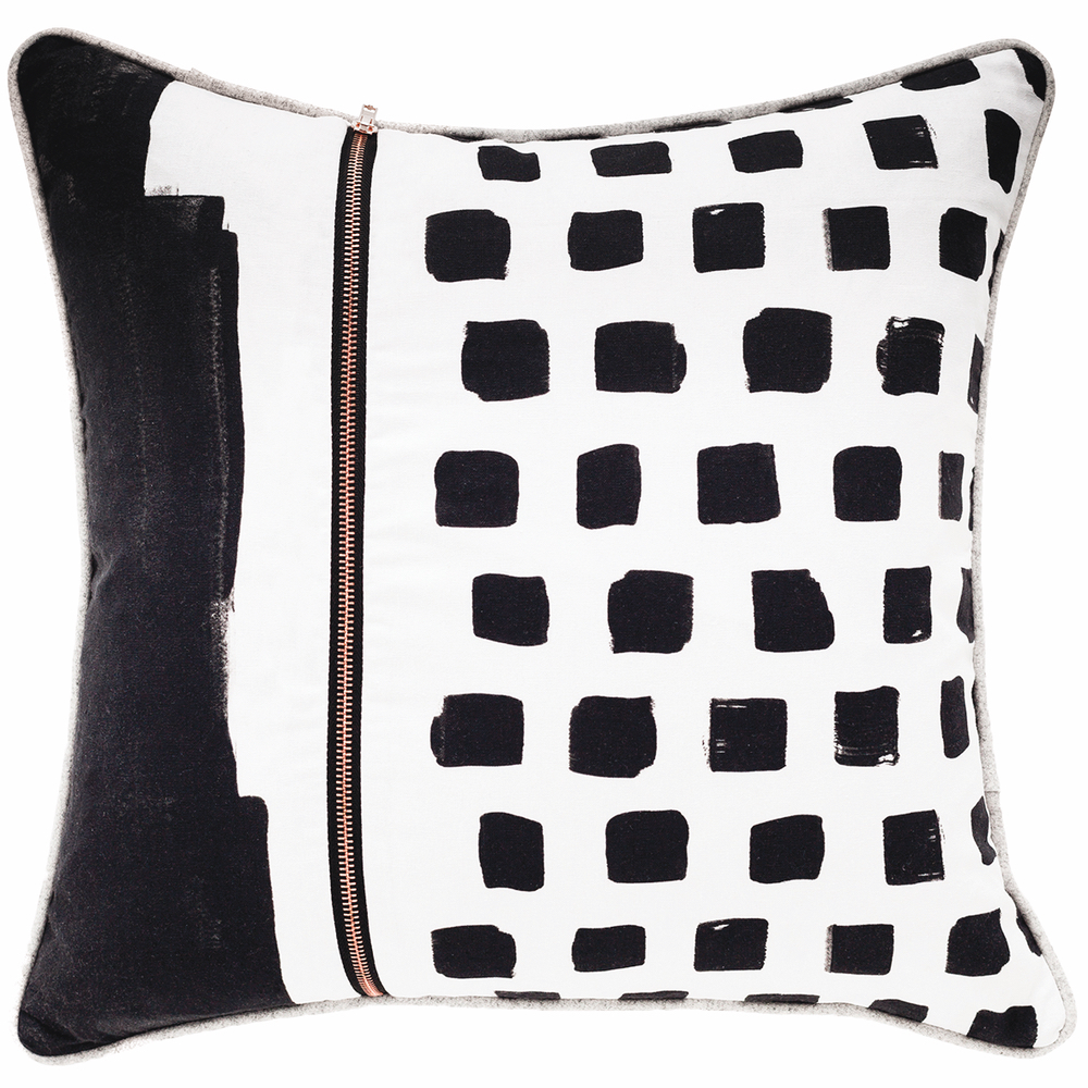 Elysian Pillow bold black and white design cest la vie 2017
