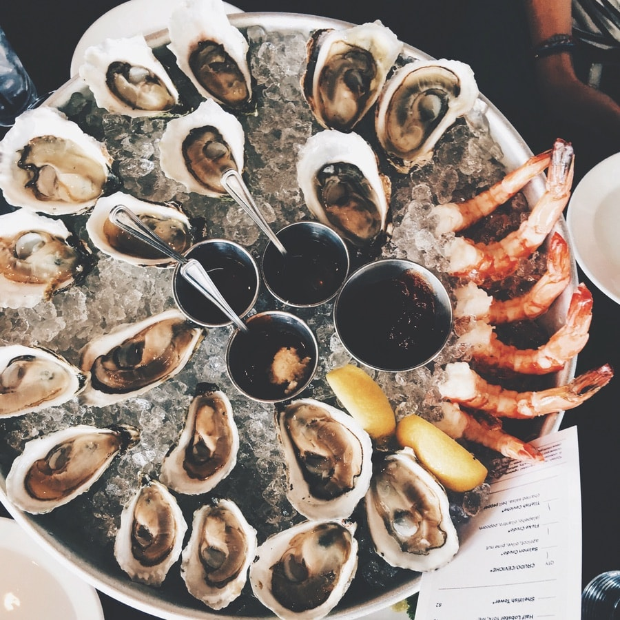 An impressive seafood platter at Row 34 in Fort Point. The Sophisticate Issue. VIE Magazine