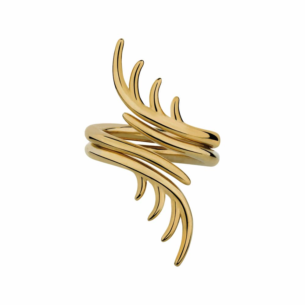 Golden Touch BLINK entwined ring in gold by luke rose jewellery sophisticate issue