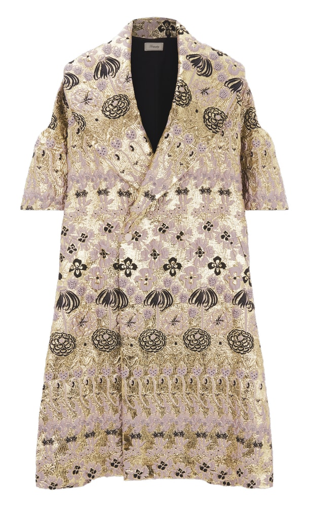 Lamé My Way Temperley London Tower Jacquard Coat Gorgeous sophisticated style