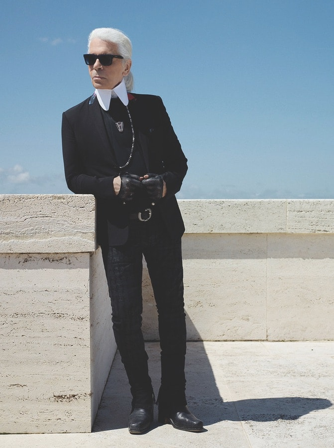 Karl Lagerfeld. VIE Magazine January 2018.