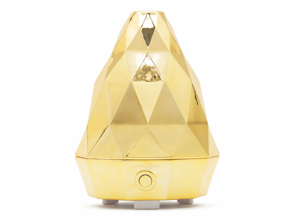 Saje aromaGem Ultrasonic Diffuser in Gold Cest la VIE Health and Beauty 2017
