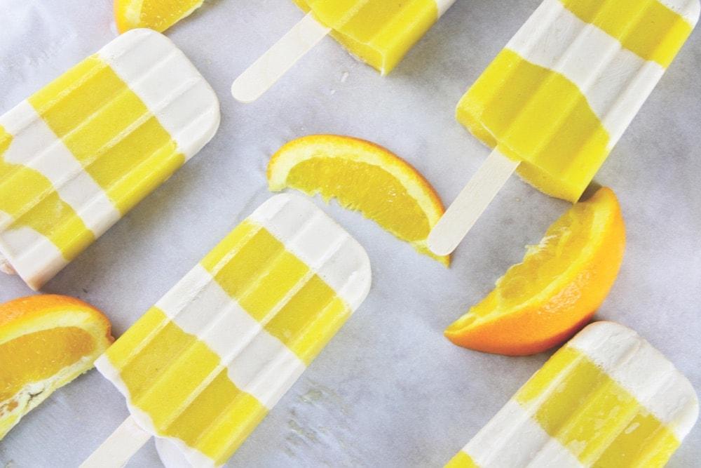 The Vegetarian Baker; vegetables; Orange Creamsicle Pops