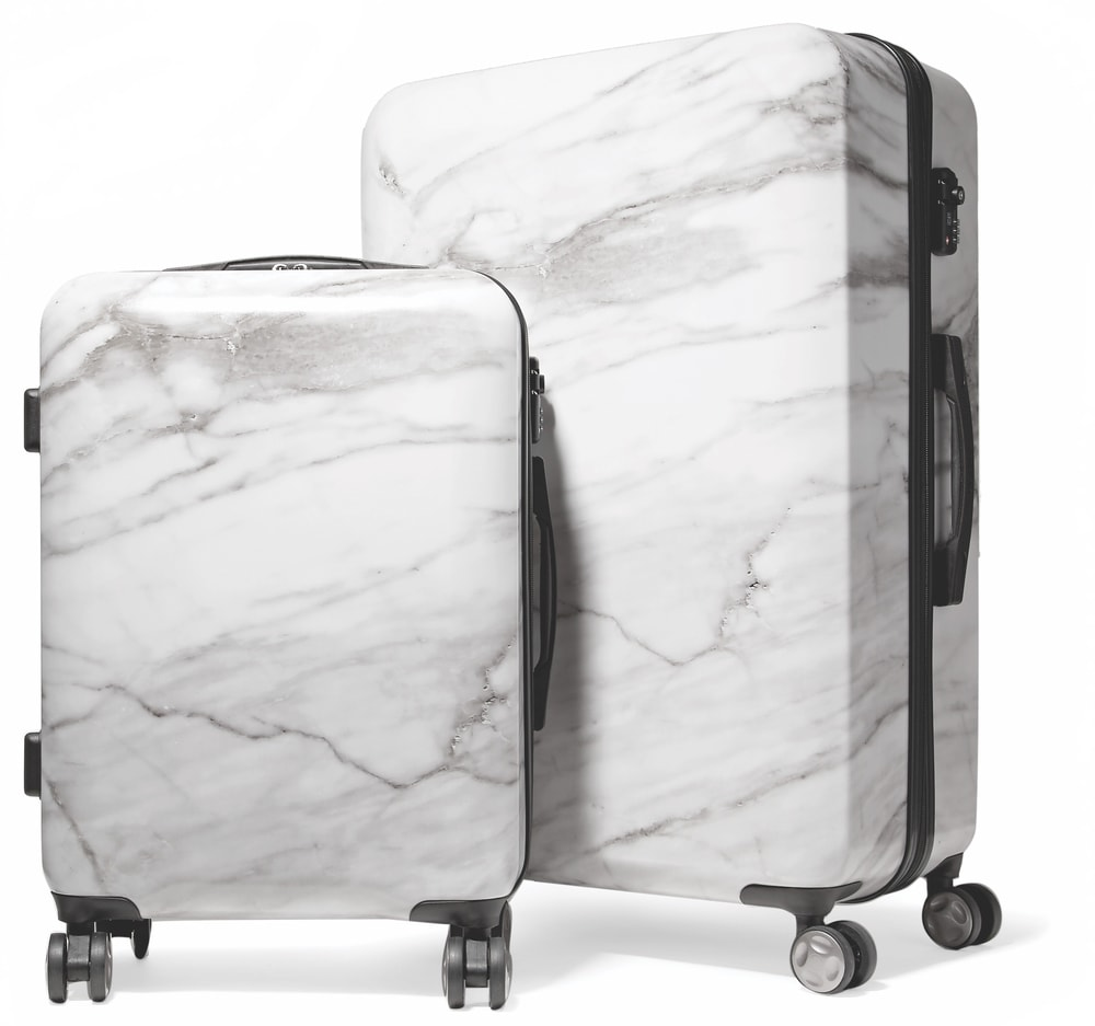 CALPAK Astyll Marbled Hard-Shell Suitcase Set VIE Magazine Destination Travel 2018