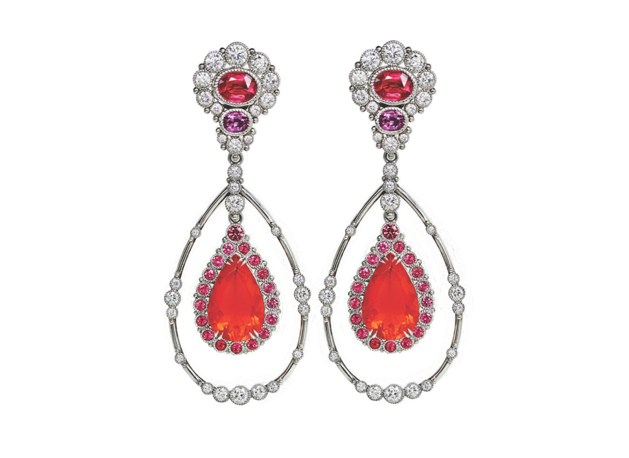 Fire Opal Drop Earrings VIE Magazine Destination Travel Cest la VIE Special Valentine's Day Edition 2018