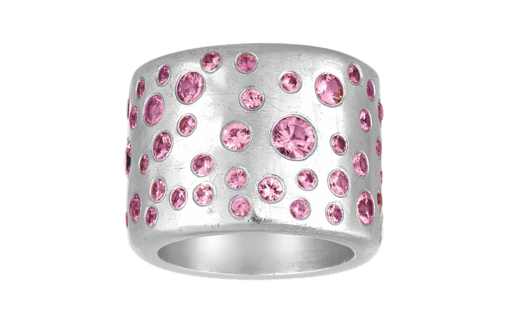 Pink Sapphire Cobblestone Ring VIE Magazine Destination Travel Cest la VIE Special Valentine's Day Edition 2018