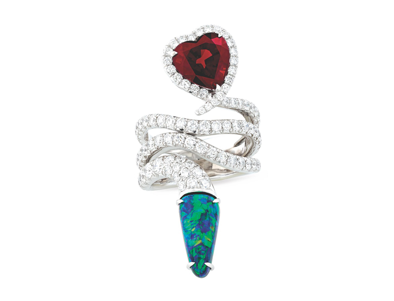 Garnet and Opal Snake Ring VIE Magazine Destination Travel Cest la VIE Special Valentine's Day Edition 2018