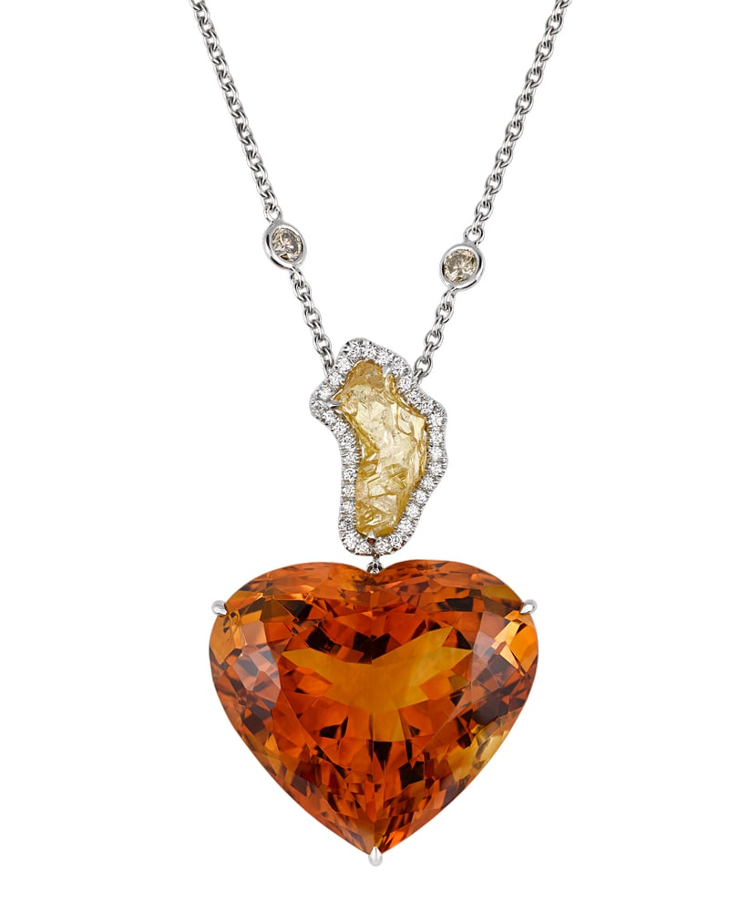 Citrine and Diamond Heart Necklace VIE Magazine Destination Travel Cest la VIE Special Valentine's Day Edition 2018