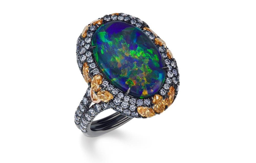 JFINE Opal and Diamond Ring VIE Magazine Destination Travel Cest la VIE Special Valentine's Day Edition 2018