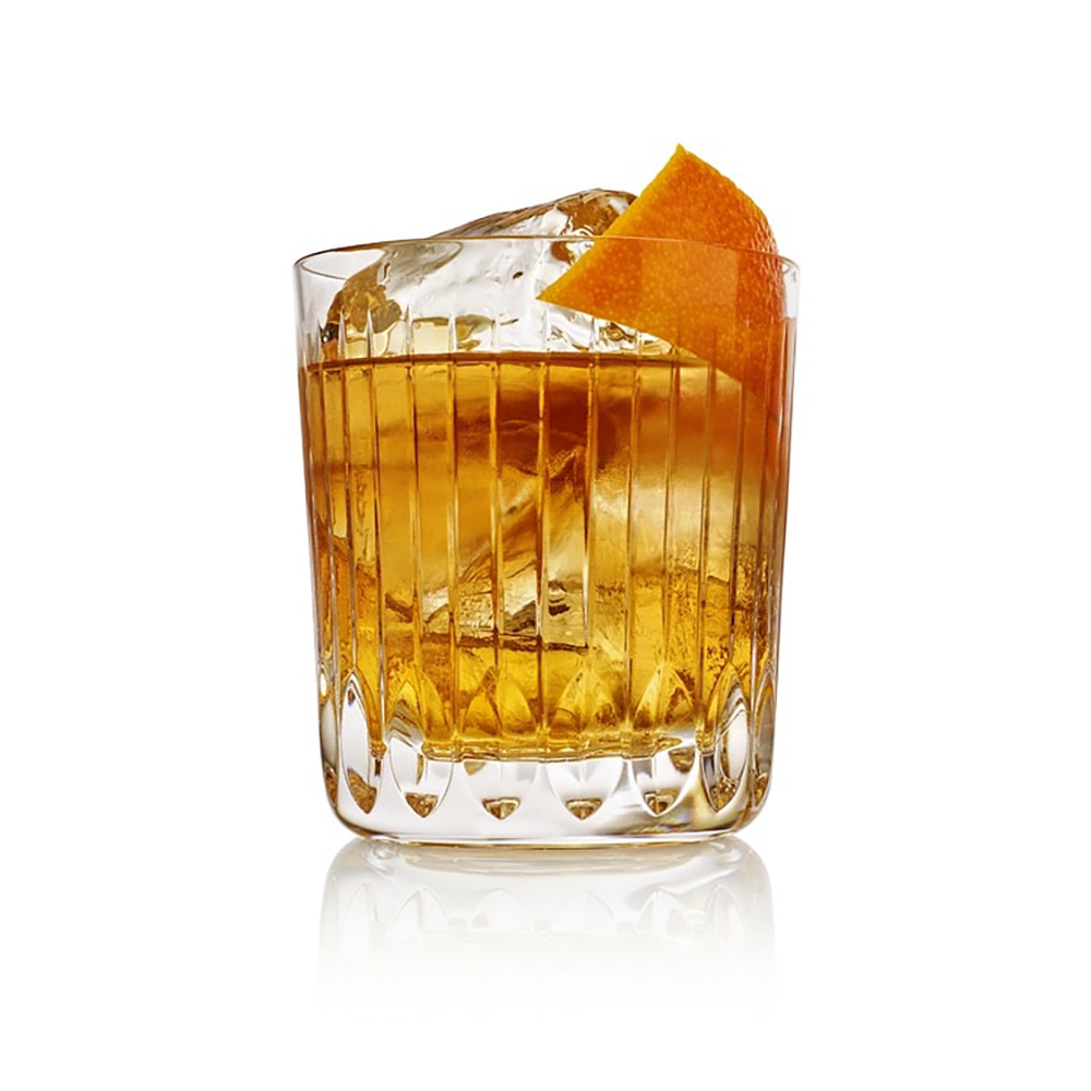 Single Old-Fashioned cocktail