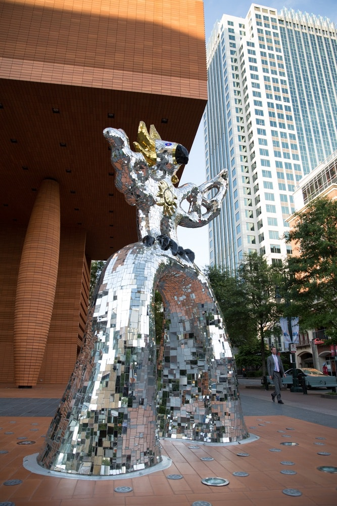 "The ""Firebird"" sculpture in downtown Charlotte, North Carolina"