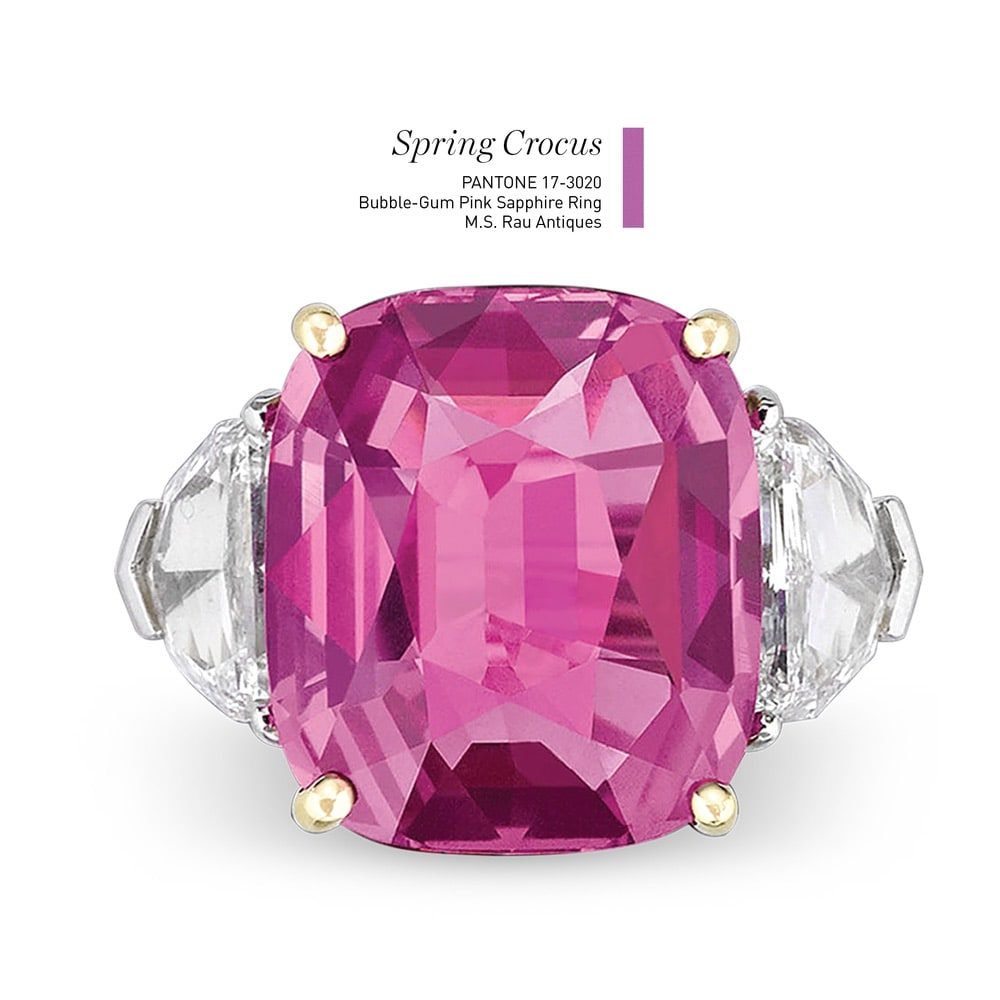 Bubble-Gum Pink Sapphire Ring