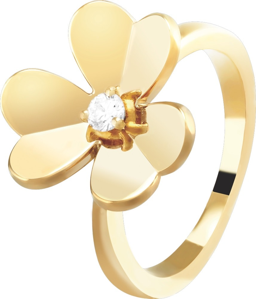 Frivole Diamond and 18-Karat Gold Ring