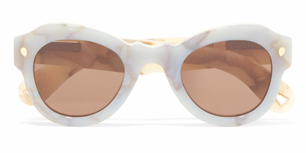 Fly Away Round-Frame Acetate Sunglasses by Lucy Folk
