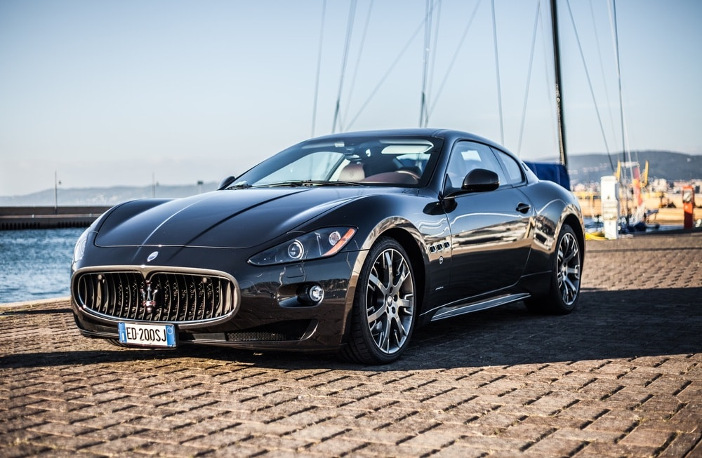Photo of a Maserati GranTurismo S . The Maserati GranTurismo is a two-door, four-seat coupe produced by the Italian car manufacturer Maserati.