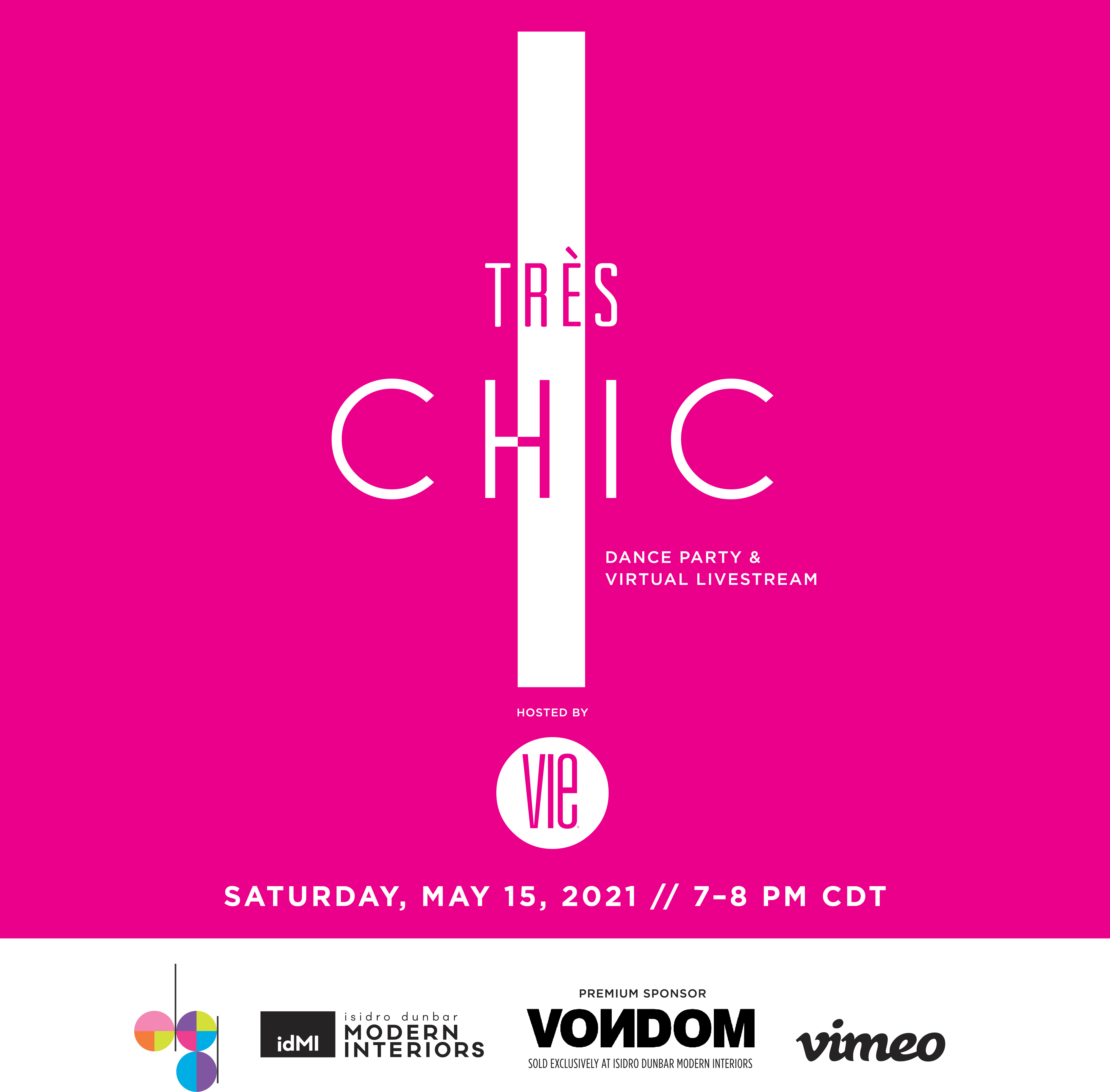 VIE magazine, Digital Graffiti, 2021, Awards Party, Tres Chic Virtual Dance Party